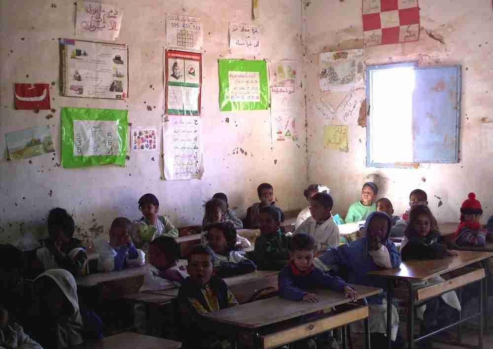 """Colegio en el campamento de refugiados """"27 de febrero"""", en Tinduf (Argelia) / Foto de Isabela Valle"""