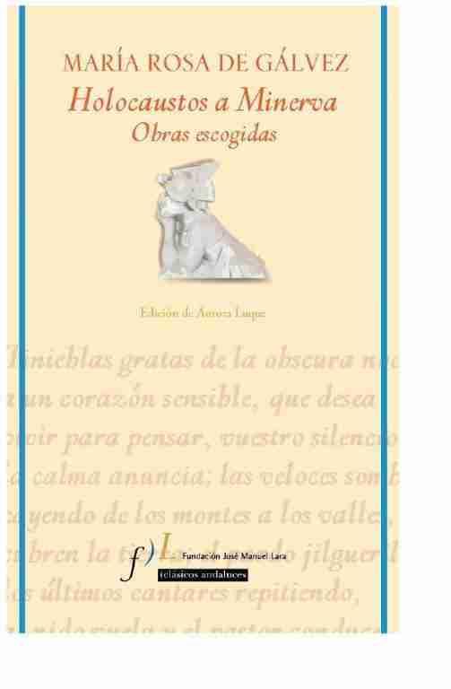 María Rosa de Gálvez holocaustos a minerva