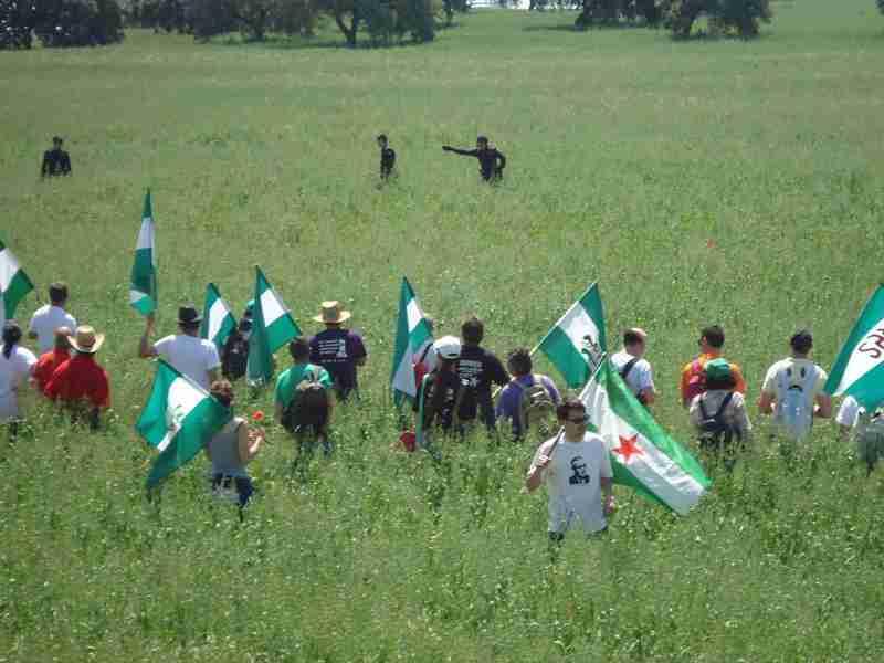 Militantes del SAT en Las Turquillas