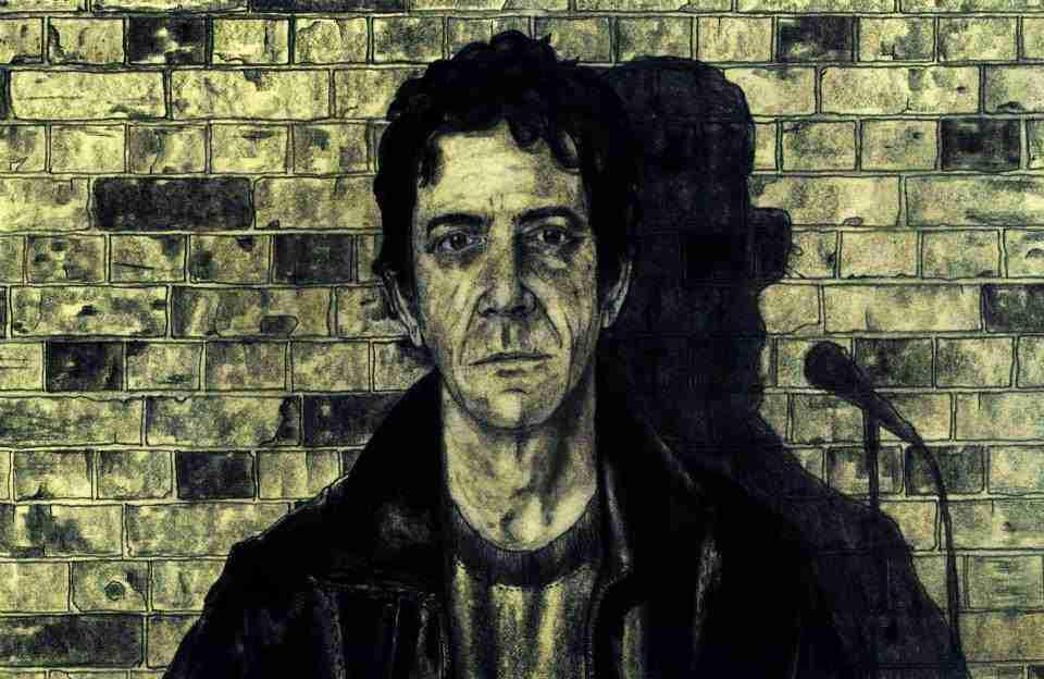 Lou Reed, ilustración por Javi Lara