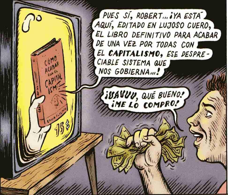 Viñeta de Miguel Brieva el libro para acabar con el capitalismo