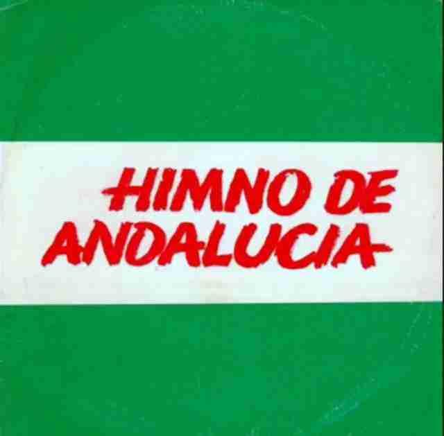 Portada primera grabación del himno de Andalucía