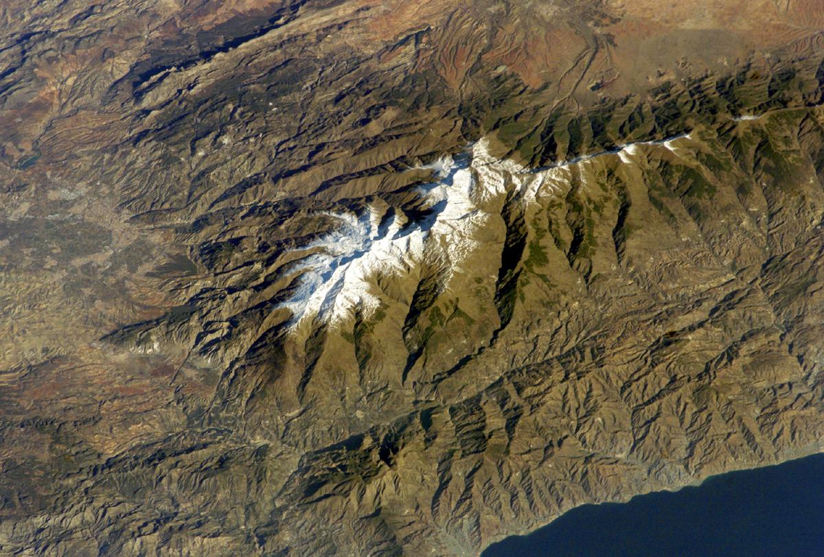 Sierra Nevada desde el aire