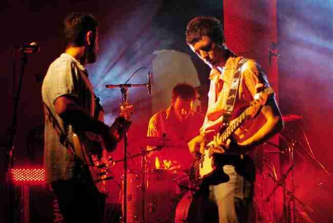 Pony Bravo concierto en directo Pablo Peña Darío del Moral y Javier Ribera. foto de Tono Cano