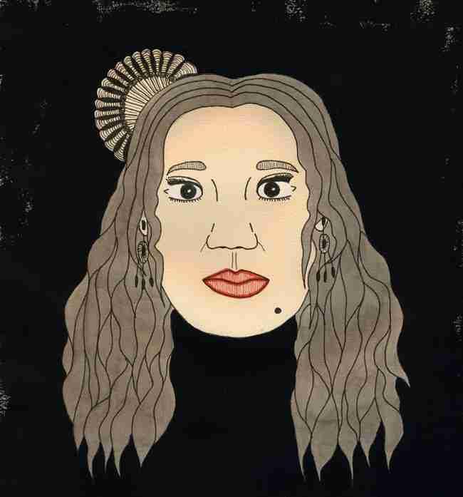 Retrato flamenco de La Macanita por Nuria Rubio