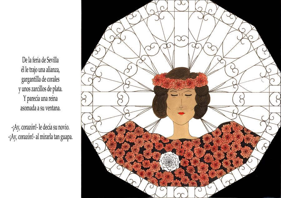 No te mires en el río. Copla Ilustrada por Nuria Rubio