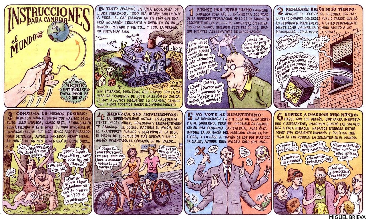 Instrucciones para cambiar el mundo, ilustración de Miguel Brieva