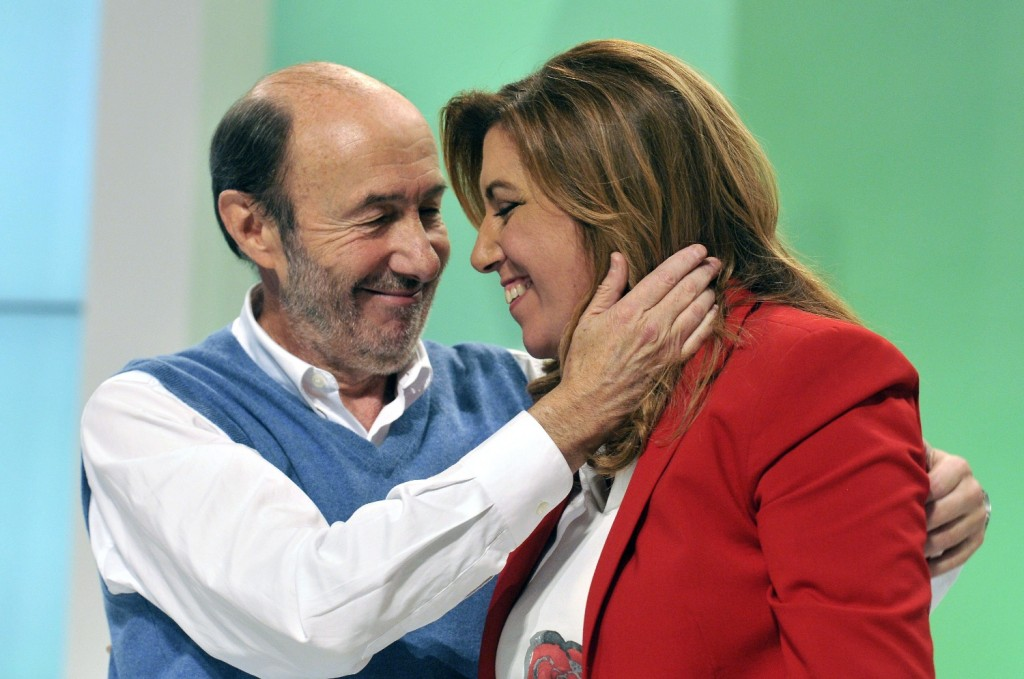 Alfredo Pérez Rubalcaba y Susana Díaz. Foto de Jesús Ochando