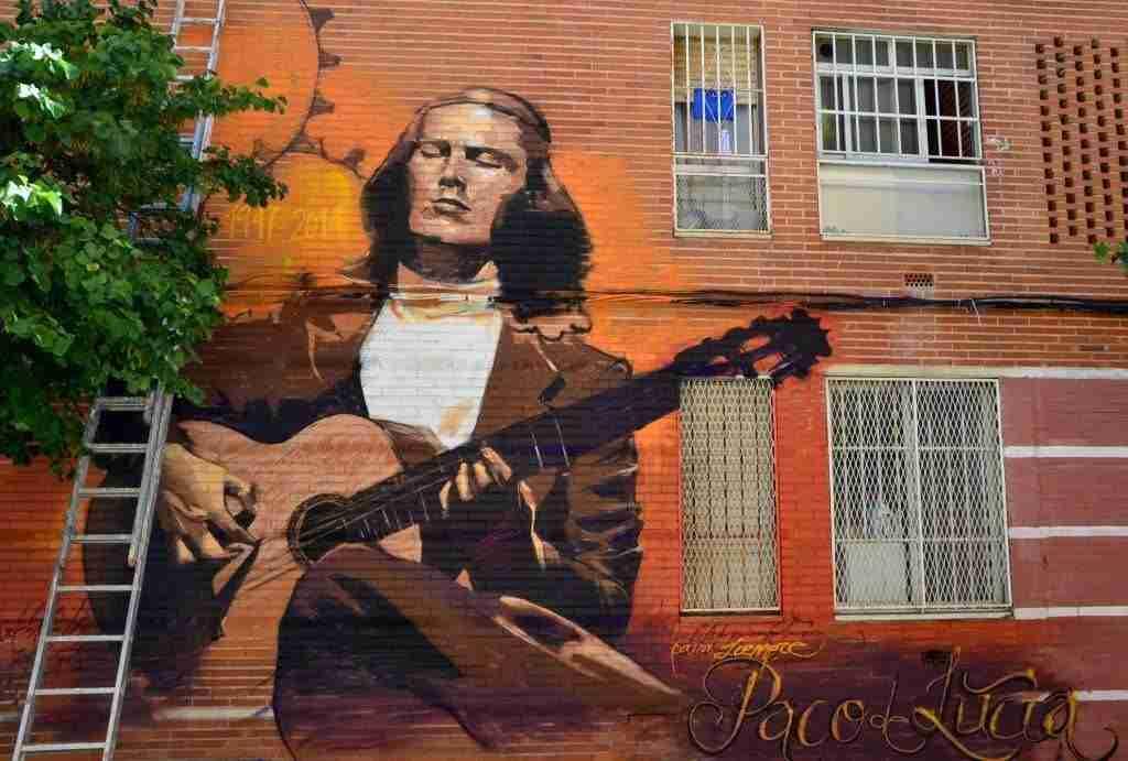 Graffiti de El Niño de las Pinturas. Paco de Lucía, para siempre.