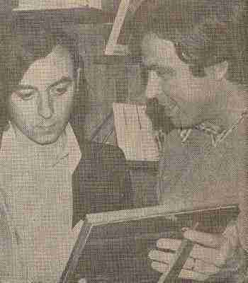Sebastián Moreno con Felipe González