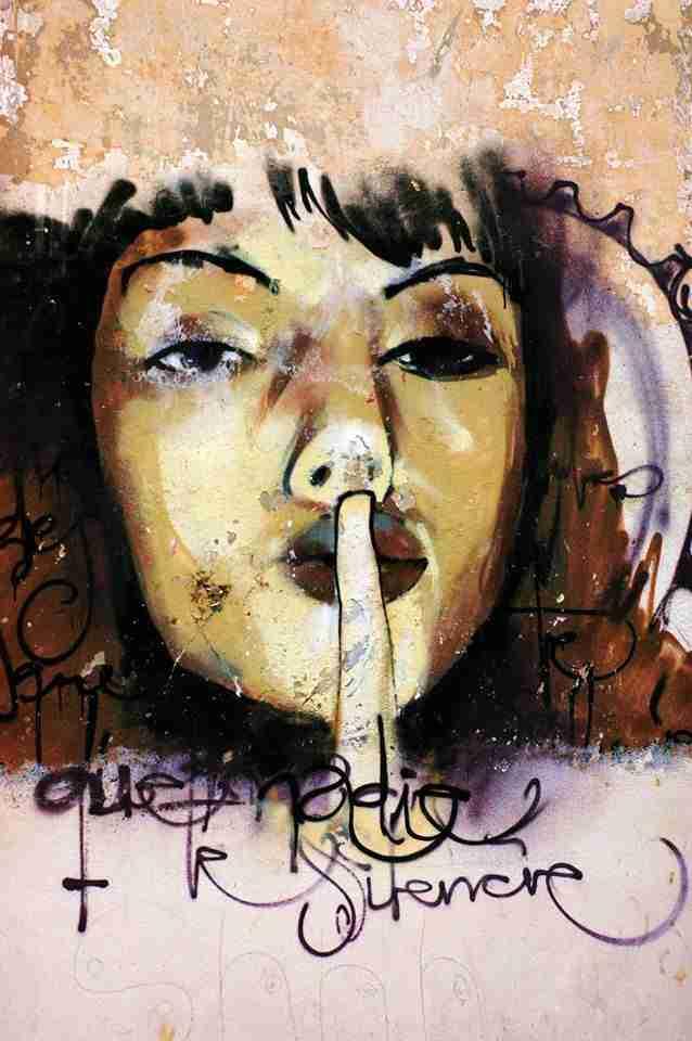 Que nadie te silencie, graffiti de El Niño de las pinturas