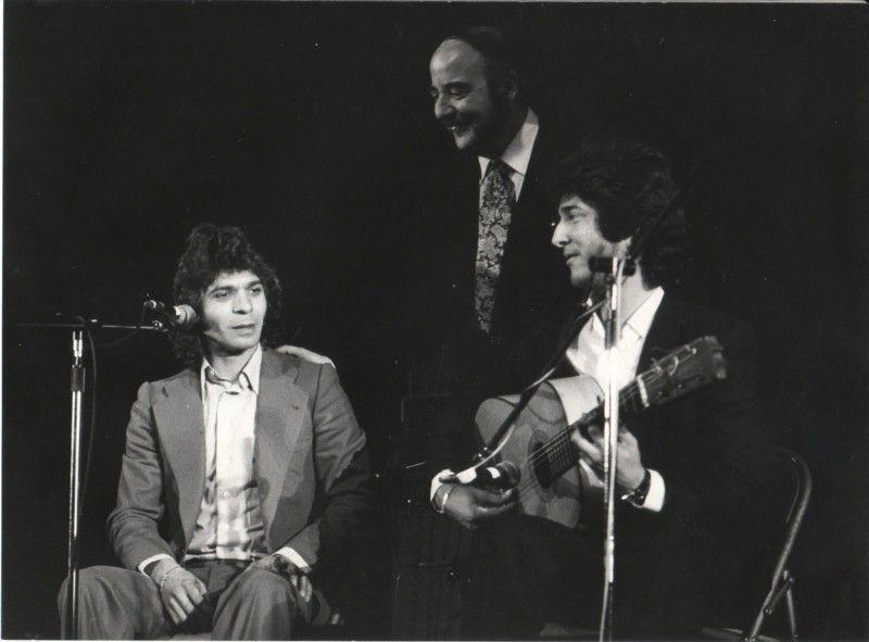 Fernando Quiñones con Camarón y Tomatito en madrid, 1980
