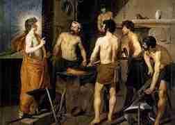 La Fragua de Vulcano, cuadro de Velázquez que inspiró este relato.