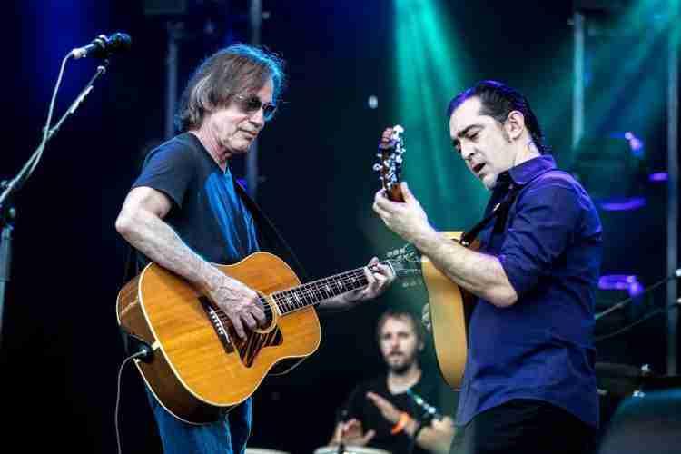 Jackson Browne y Raúl Rodríguez durante SON&SONG